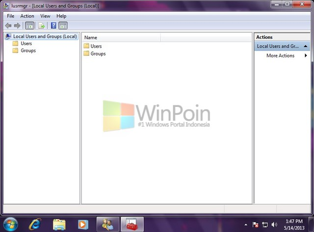 Cara Membuka Local User and Groups di Windows 7