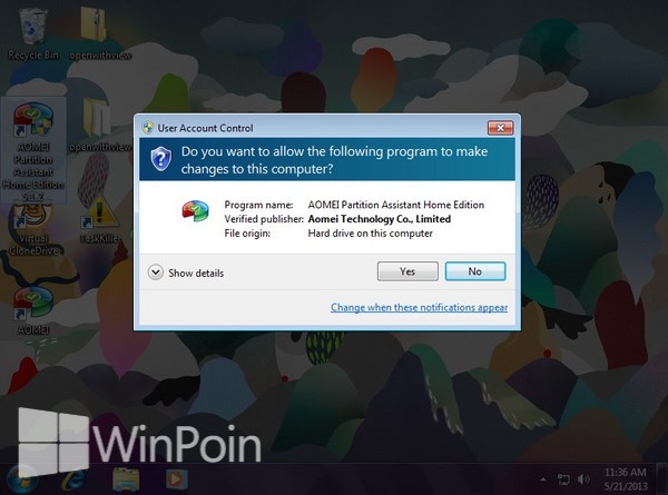 Cara Mematikan User Account Control Pada Windows 7