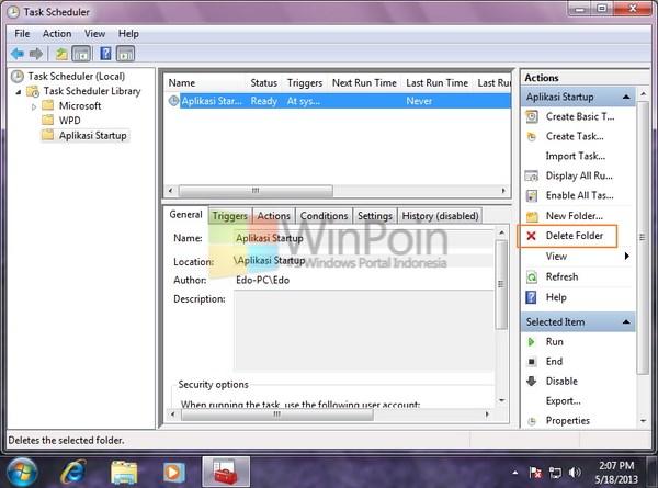 Cara Membuat Aplikasi Berjalan Saat Startup dengan Task Scheduler di Windows 7