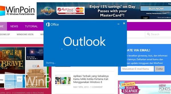Cara Mematikan atau Menonaktifkan Notifikasi Email Outlook 2013 Desktop