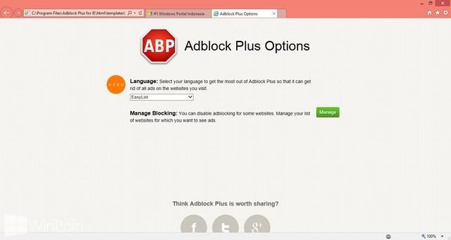 Adblock Plus untuk Internet Explorer Sudah Dirilis