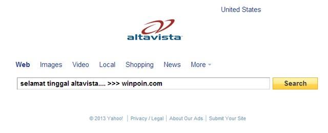 Yahoo Menutup AltaVista dan 11 Layanan Lainnya!