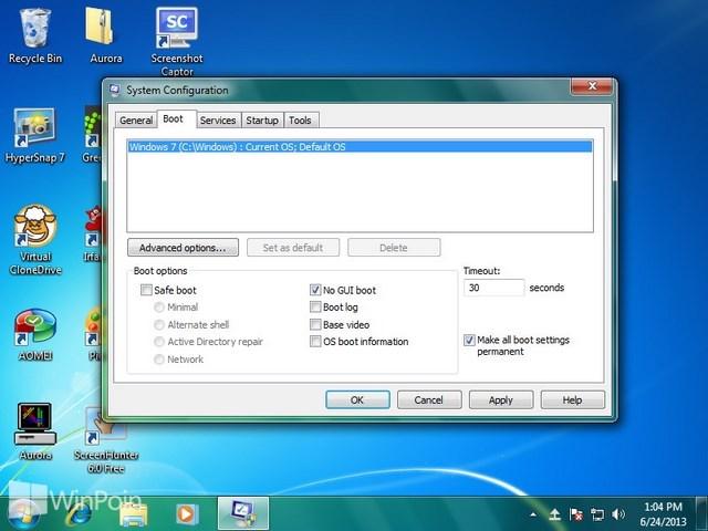 Cara Mematikan Boot Screen di Windows 7