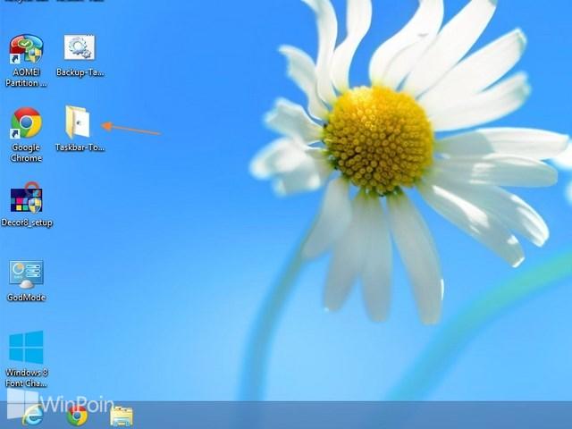 Cara Membuat Back Up dan Restore Taskbar Toolbar di Windows 8