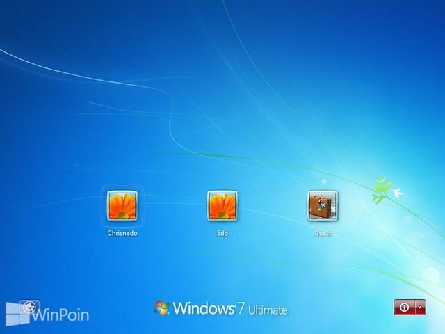 Cara Login Windows Dengan Memilih User Akun Terlebih Dahulu