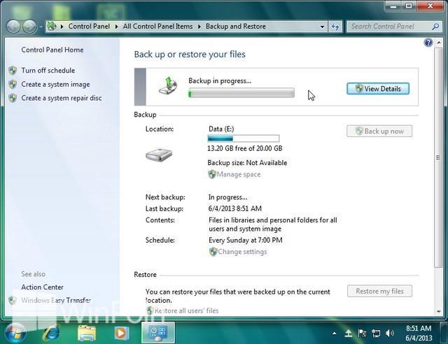 Cara Melakukan Backup Secara Otomatis di Windows 7
