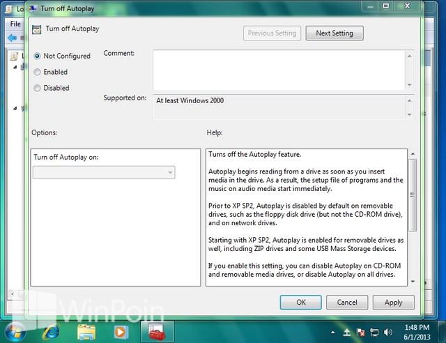 Cara Mematikan atau Mengaktifkan AutoPlay di Windows 7