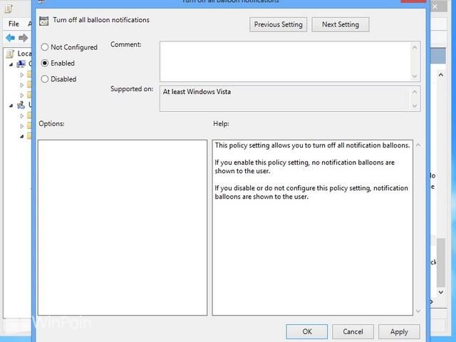 Cara Mematikan Notifikasi Balloon Windows 8