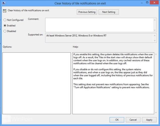 Cara Membersihkan Notifikasi Secara Otomatis Ketika Logout Windows 8
