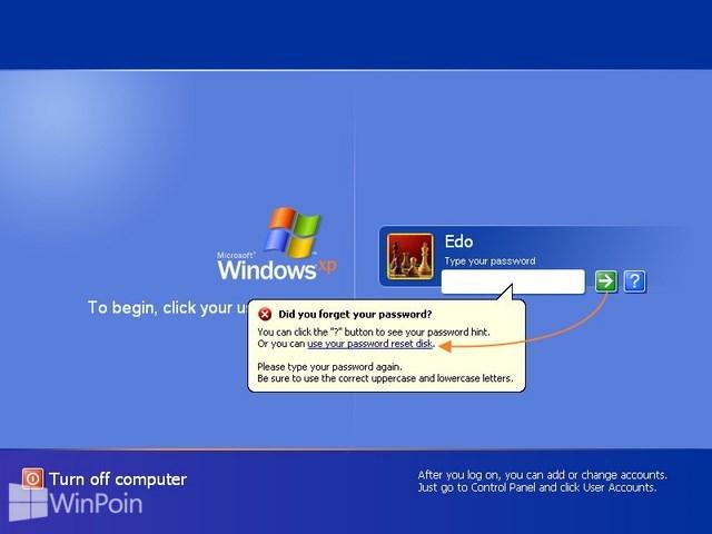 Cara Reset Password Disk di Windows XP