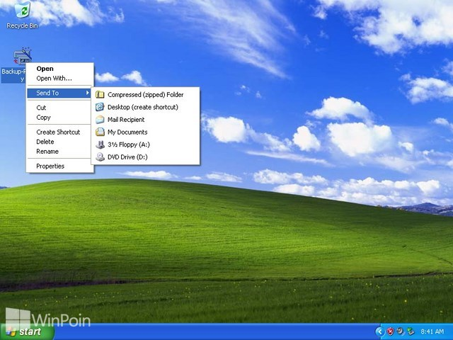 Cara Membuat dan Extract File Zip di Windows XP