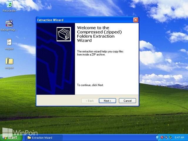 Cara Membuat dan Extract File Zip di Windows XP
