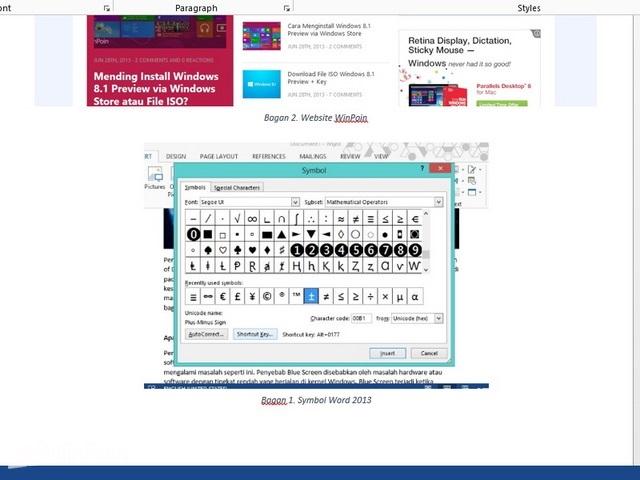 Cara Menambahkan Caption di Word 2013
