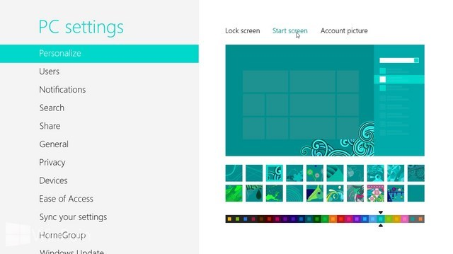 Cara Mengganti Background Start Screen di Windows 8