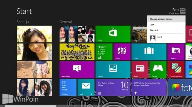 Cara Mengganti Foto Akun di Windows 8