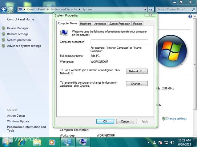 Cara Mengganti Nama Komputer di Windows 7