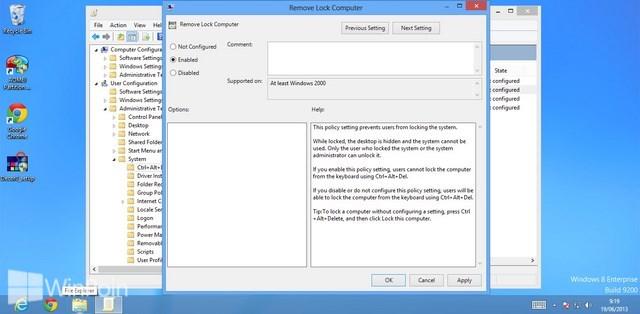 Cara Menghilangkan Fungsi Lock Saat Ctrl+Alt+Del Pada Windows 8