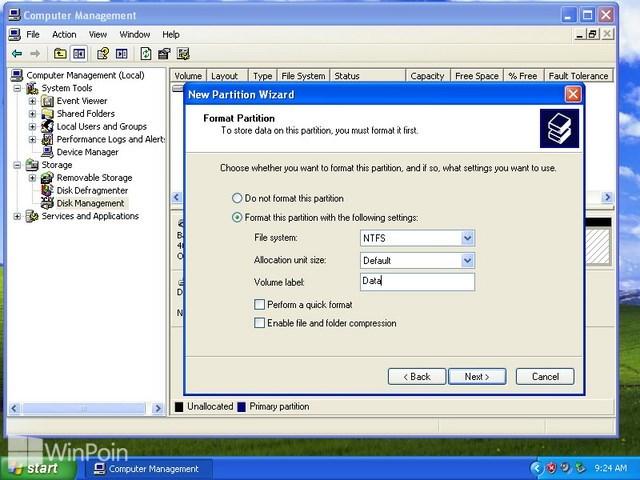 Cara Membuat, Menghapus dan Format Partisi Hardisk di Windows