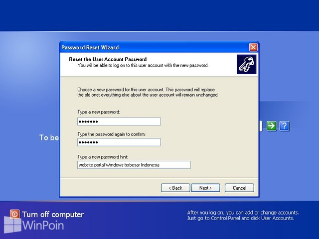 Cara Reset Password Disk di Windows XP