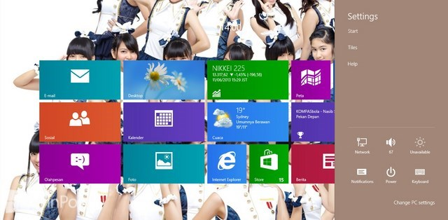 Cara Menggunakan Charm Bar di Windows 8 untuk Pemula