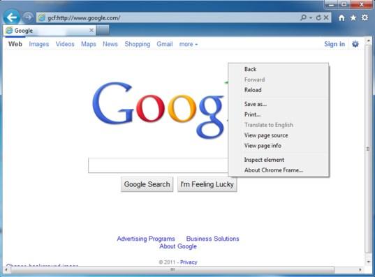 Google Menghentikan Pengembangan Chrome Frame untuk IE