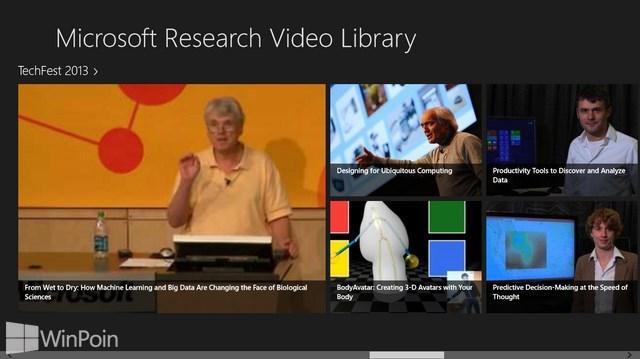 Microsoft Research Merilis Aplikasi Video Library untuk Windows 8