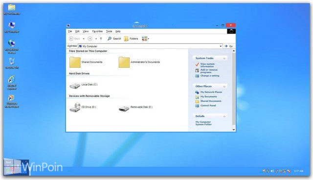 Download Kumpulan Tema Windows 8 Untuk Windows XP
