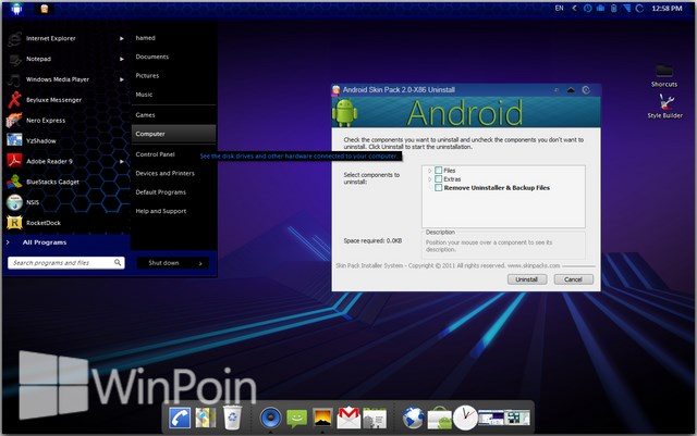 Download 5 Theme Android untuk Windows XP