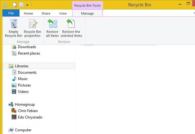 Cara Menggunakan Recycle Bin di Windows