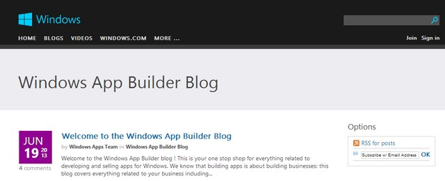 Microsoft Merilis Windows App Builder Blog