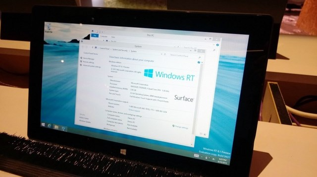 Windows RT 8.1 Preview Terlihat di Event BUILD 2013