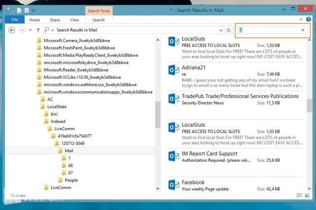 Cara Backup Email dari Aplikasi Modern Mail di Windows 8