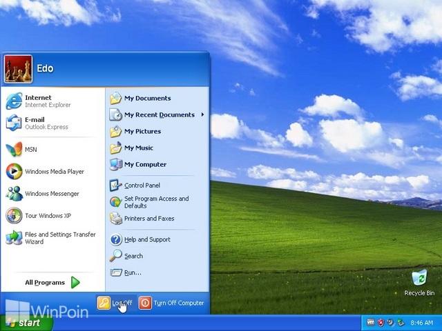 Cara Berganti User Akun di Windows XP