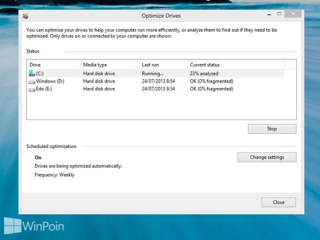 Cara Defrag di Windows 8