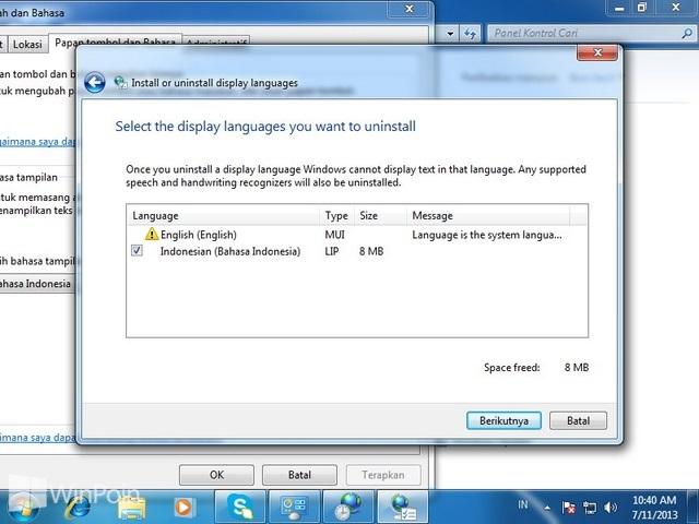 Cara Install dan Uninstall Bahasa di Windows 7