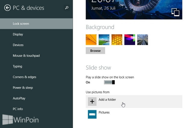 Cara Mengaktifkan Lock Screen Slide Show di Windows 8.1