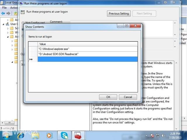 Cara Membuka Software atau Dokumen saat Login di Windows
