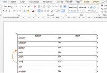 Cara Cepat Untuk Memindahkan Baris Tabel di Word 2013