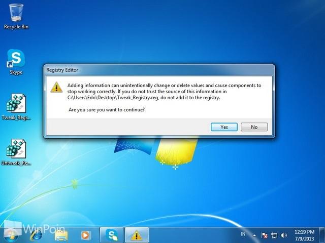 Cara Mempercepat Windows 7 Dengan Menggunakan Registry