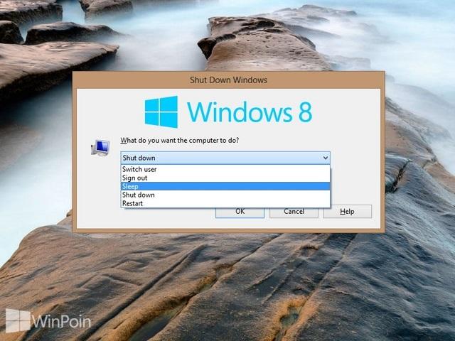 Cara Menambah atau Menghapus Sleep atau Hibernate dari Menu Power Option di Windows 8