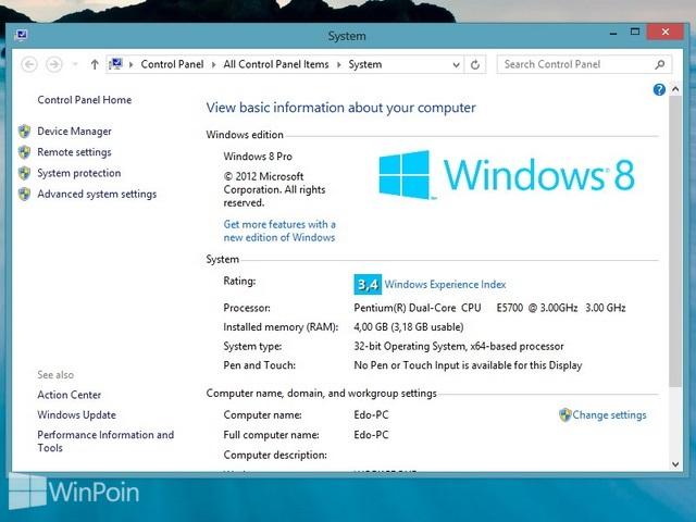 Cara Menambah Virtual Memory Windows 8