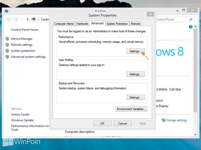 Cara Menambah Virtual Memory Windows 8