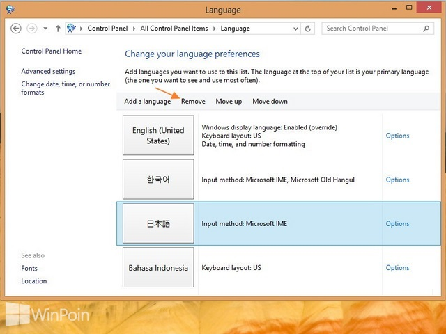 Cara Menambah dan Menghapus Language Packs di Windows 8