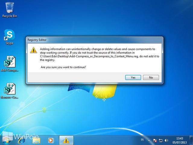 Cara Menambahkan NTFS Compress dan Decompress Pada Klik Kanan di Windows 7