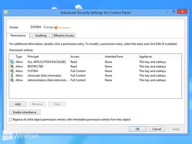 Cara Menambahkan Take Ownership Registry Pada Windows 8
