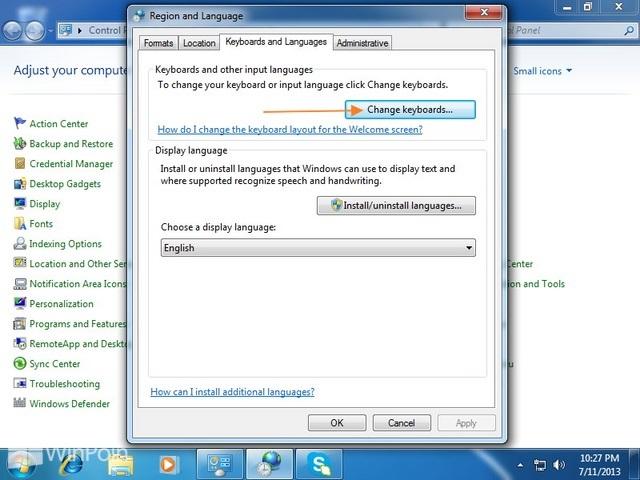 Cara Menampilkan Language Bar di Windows 7