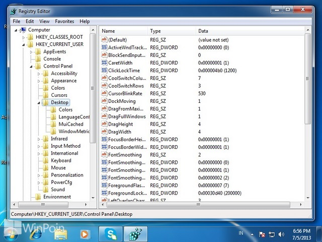 Cara Mengatur Kecepatan Blink Cursor di Windows 7