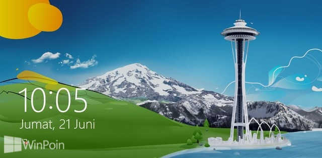 Cara Mengatur Default Background Lock Screen di Windows 8