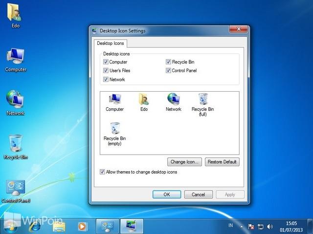 Cara Mengatur Icon Default Desktop Di Windows 7 Winpoin