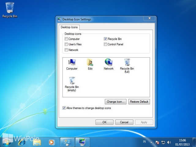 Cara Mengatur Icon Default Desktop di Windows 7